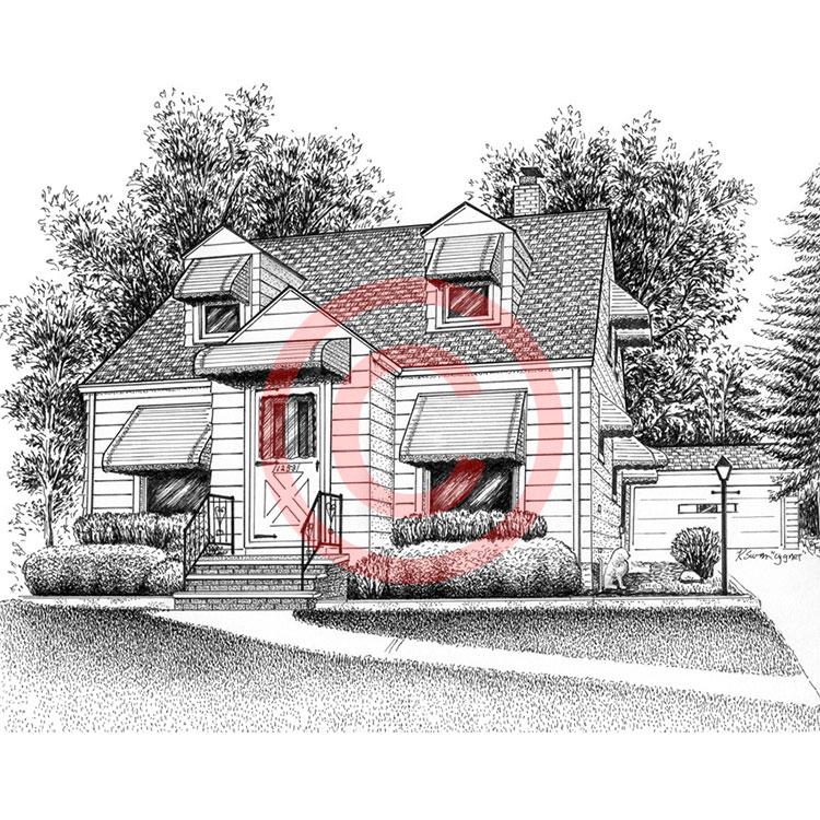 Small Cottage House Portrait