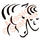 Horse w/Human Face Touching Vector Logo