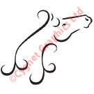 Vector Horse Head Neck Arch Swirl Curl