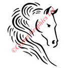 Two Horse Heads Vector Art