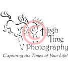 Vector Horse Art Logo - Two Romping Bucking Horses - High Time Photography Logo