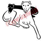 Two Greyhound Dogs Vector Art